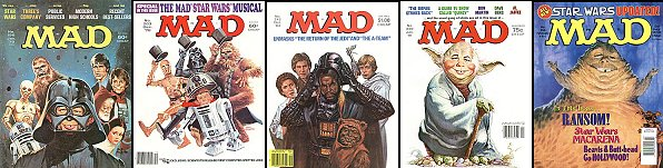 Mad Star Wars covers