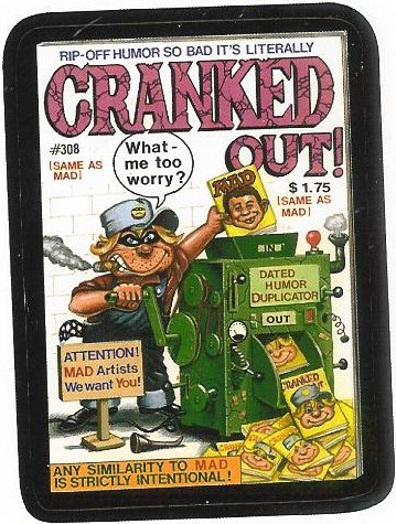 Cranked Out parody of Cracked Magazine