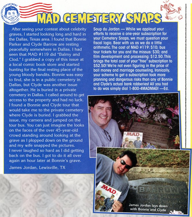 Letters - Mad Cemetery Snaps