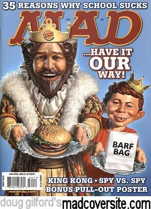 2006 MAD MAGAZINE #464 - BURGER KING SPY VS SPY BONUS POSTER - UNREAD - NRMT-MT
