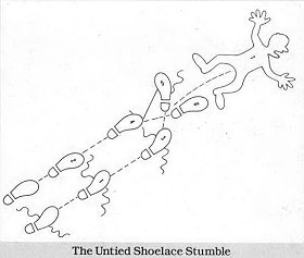 Untied Shoelace Stumble
